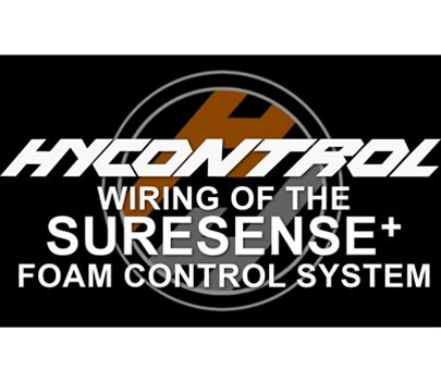 Wiring of the SureSense+ Foam Control System