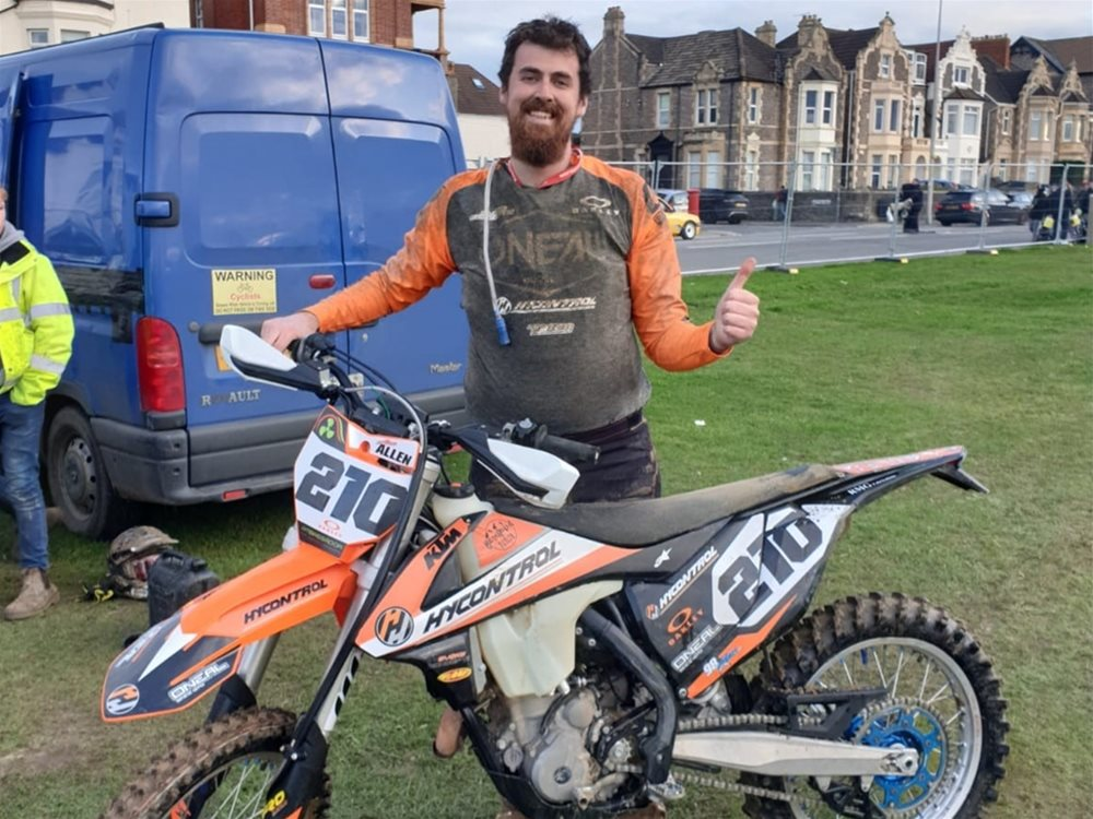 Hycontrol Sponsors Rider at Weston Beach Race