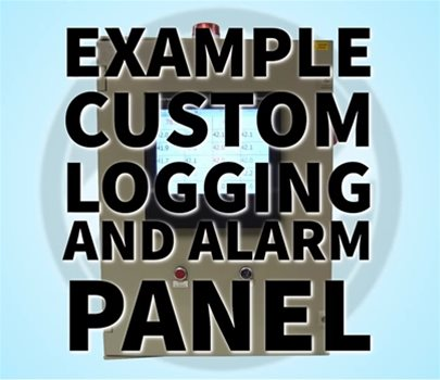 Example of a Custom Logging and Alarm Panel